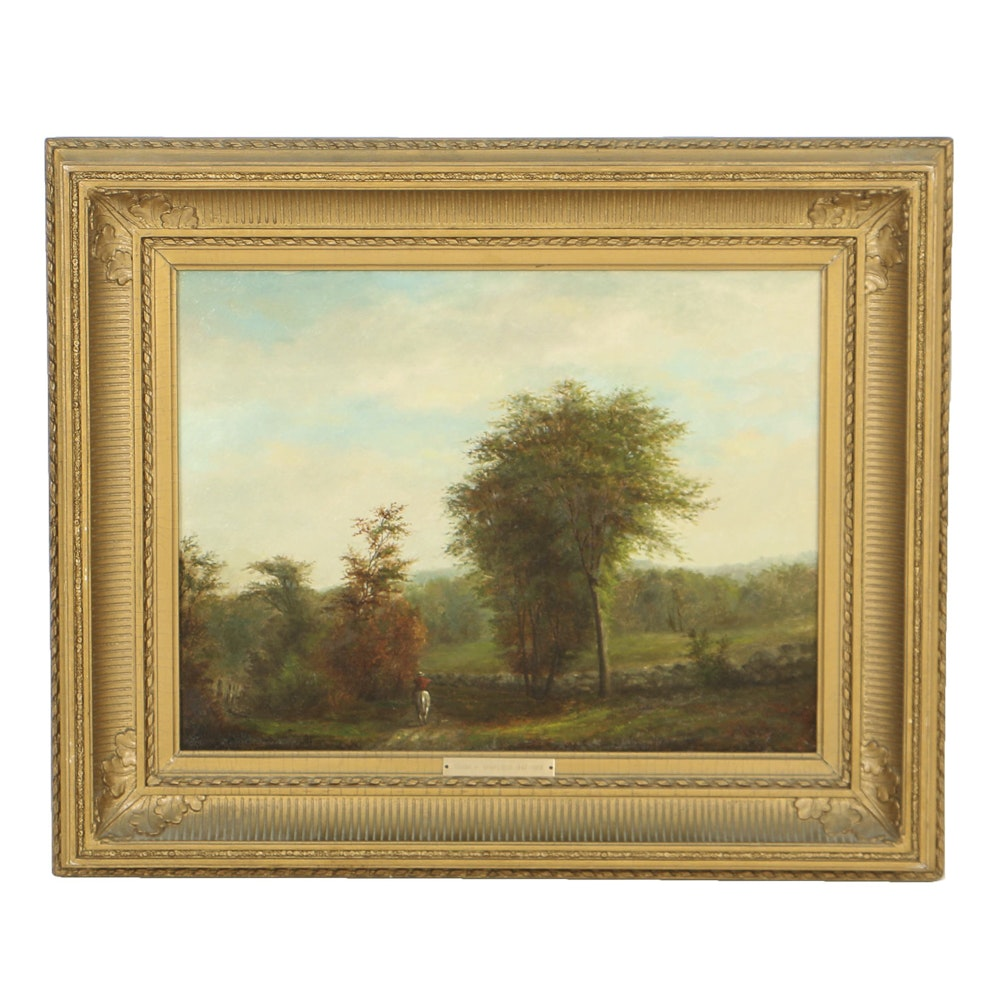 Frank Henry Shapleigh Oil Painting on Canvas Landscape