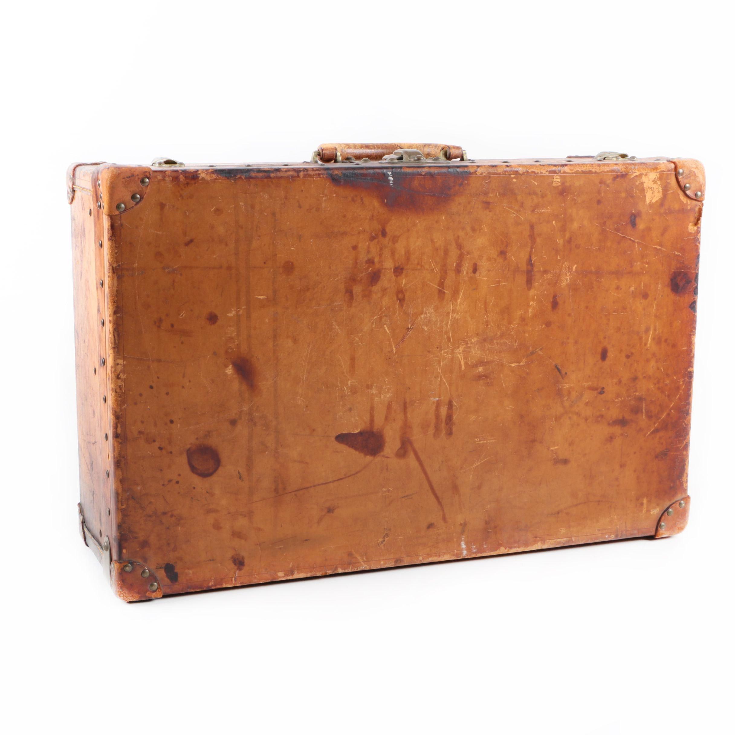 Vintage Louis Vuitton Leather Suitcase