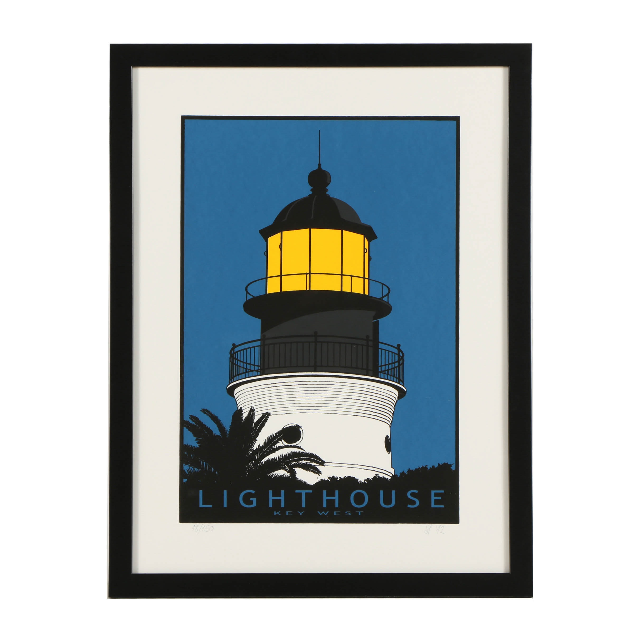 "Peter Stracenski Limited Edition Serigraph ""Lighthouse, Key West"""