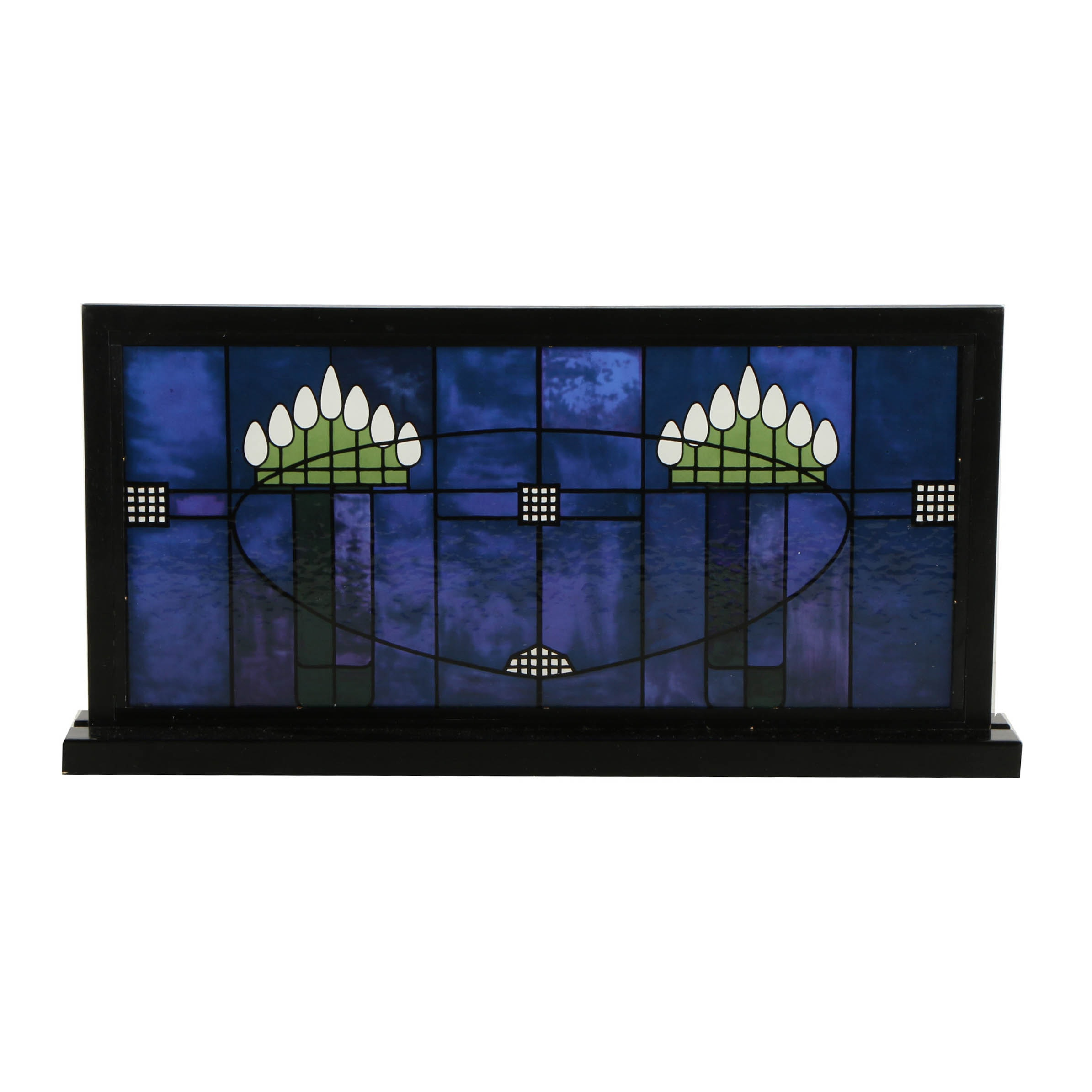 Printed Glass Panel After Charles Rennie MacKintosh Stained Glass