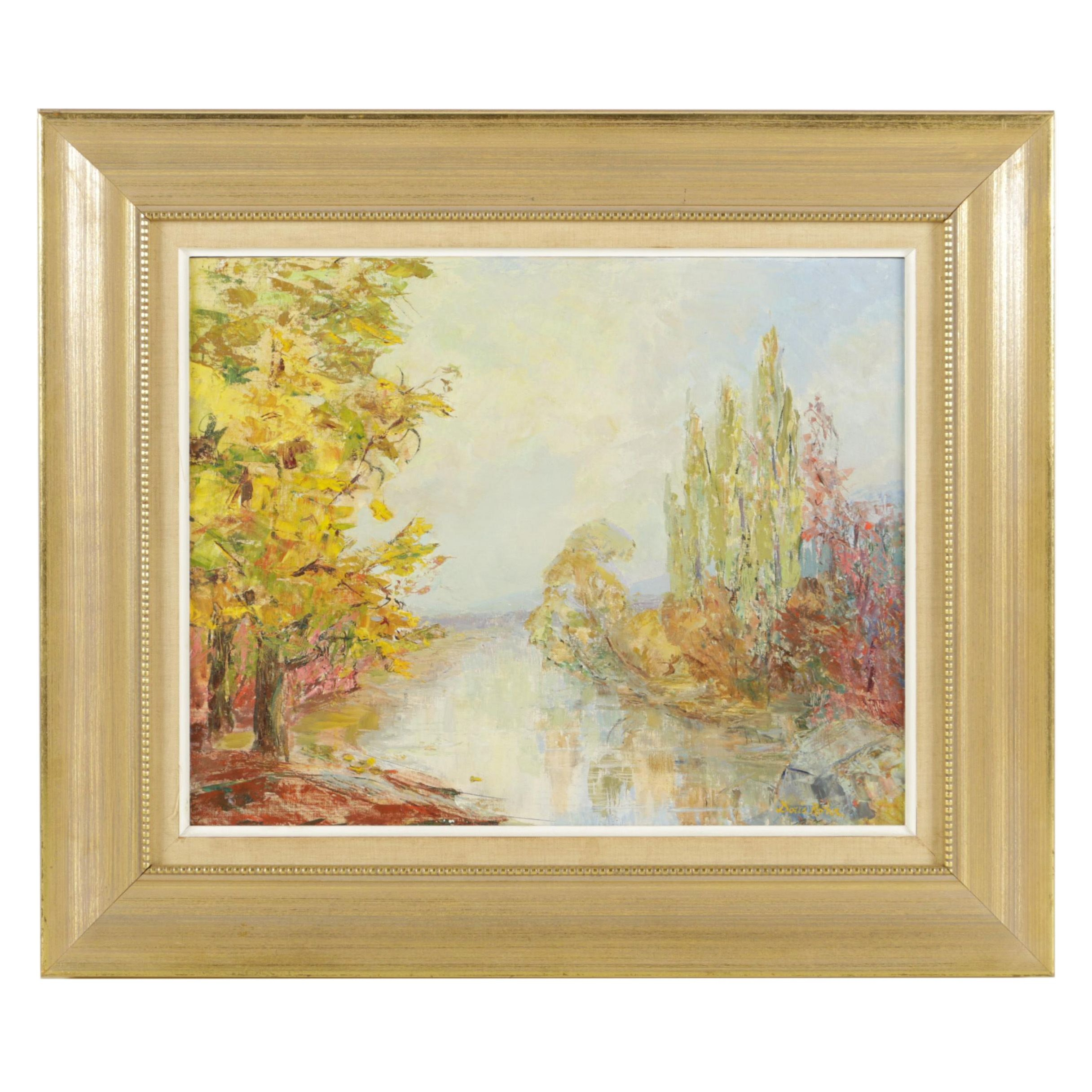 "Doris Rohr Original Oil Painting ""October"""