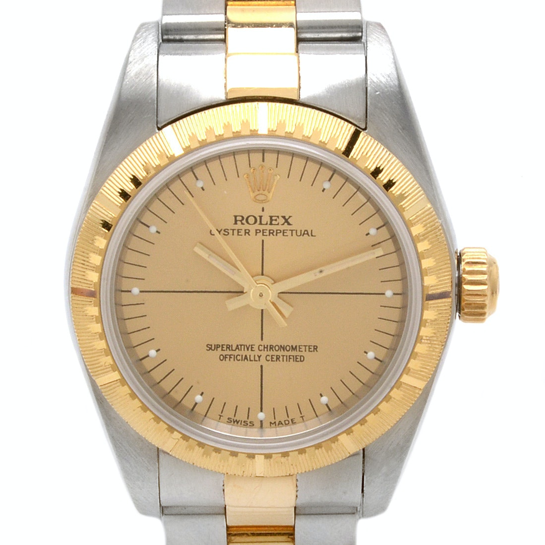 Rolex Oyster Perpetual 18K Gold and Stainless Steel Automatic Wristwatch
