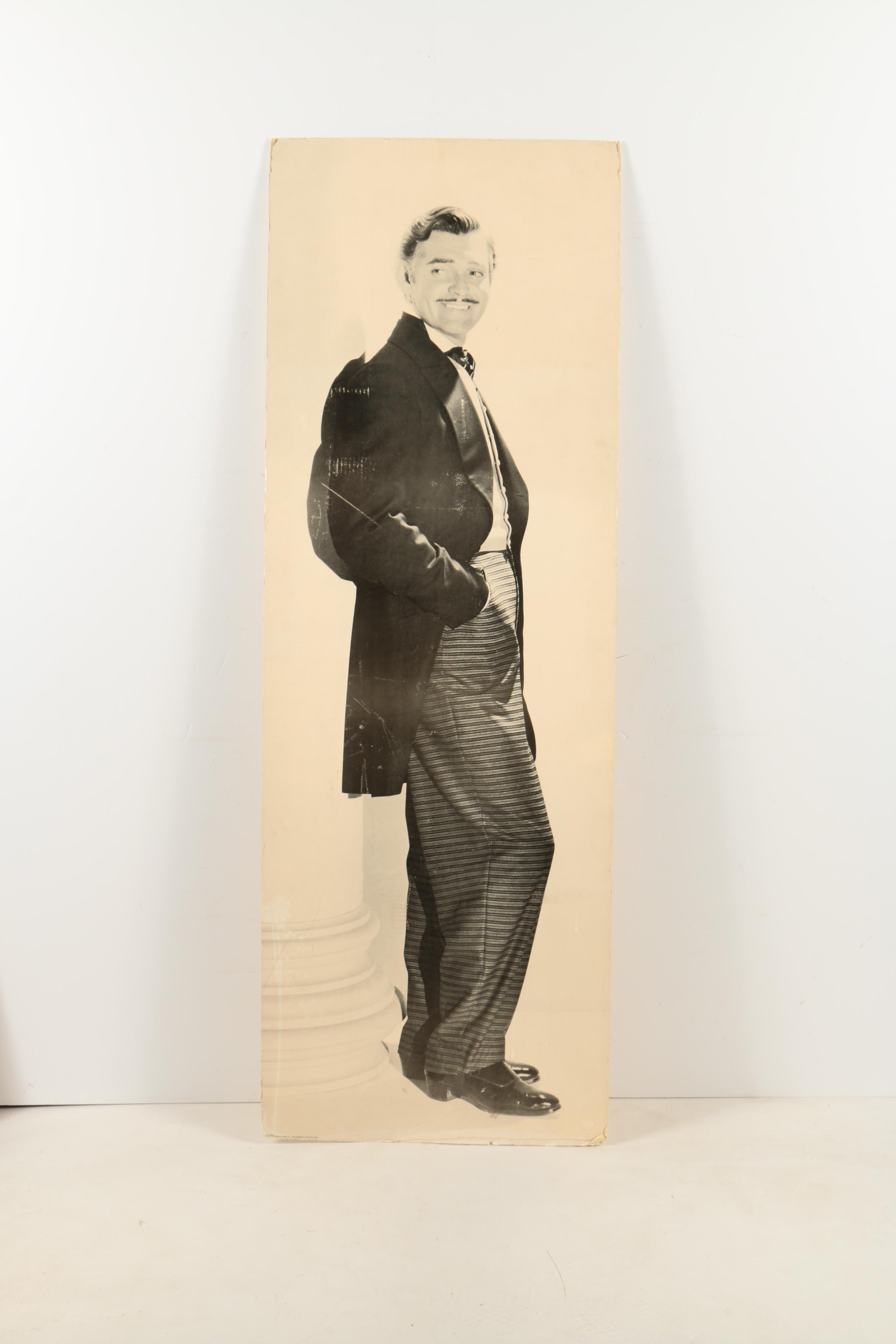 Offset Lithograph on Paper Mounted to Foam Core of Clark Gable