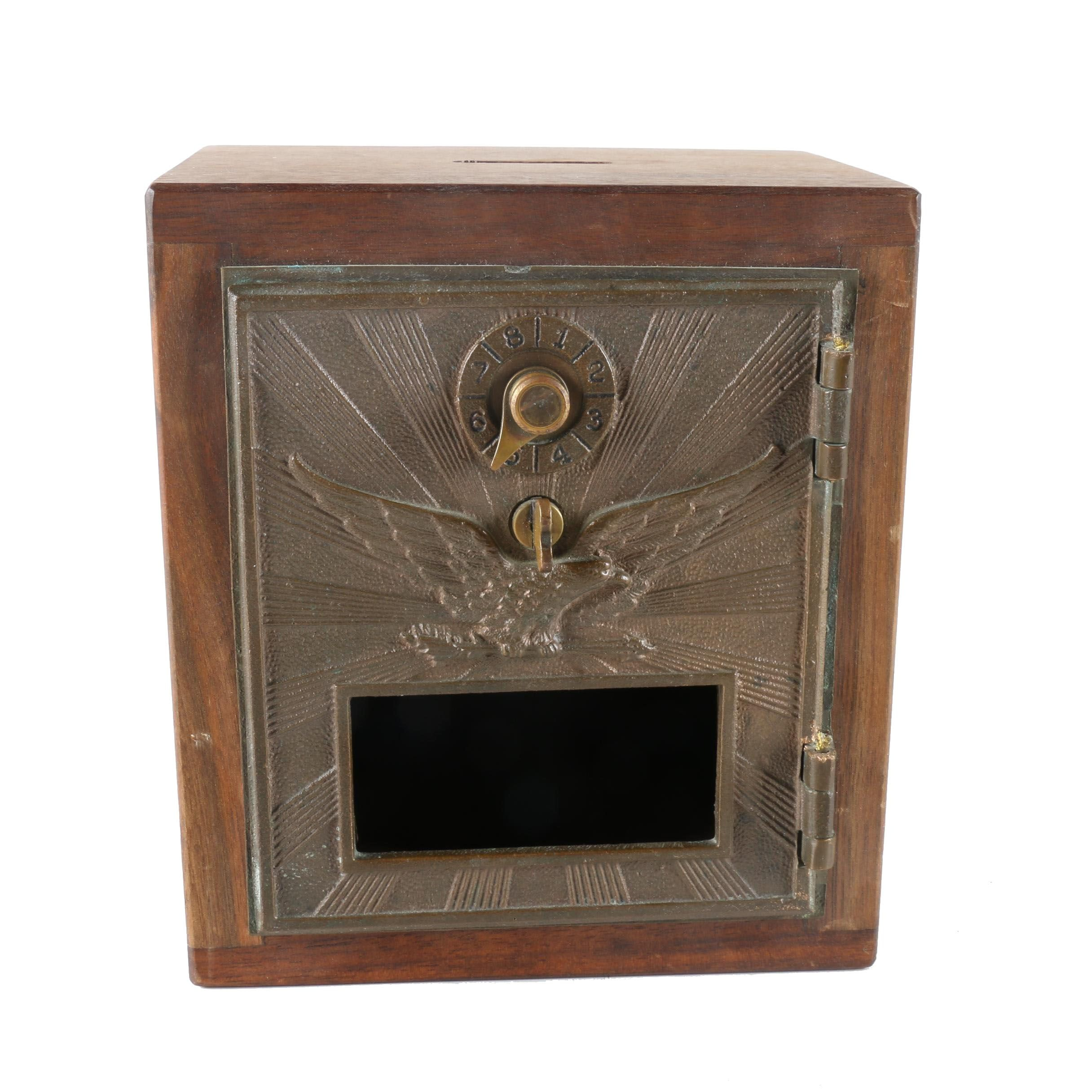 Wooden Lock Box From Former Post Office Box Door