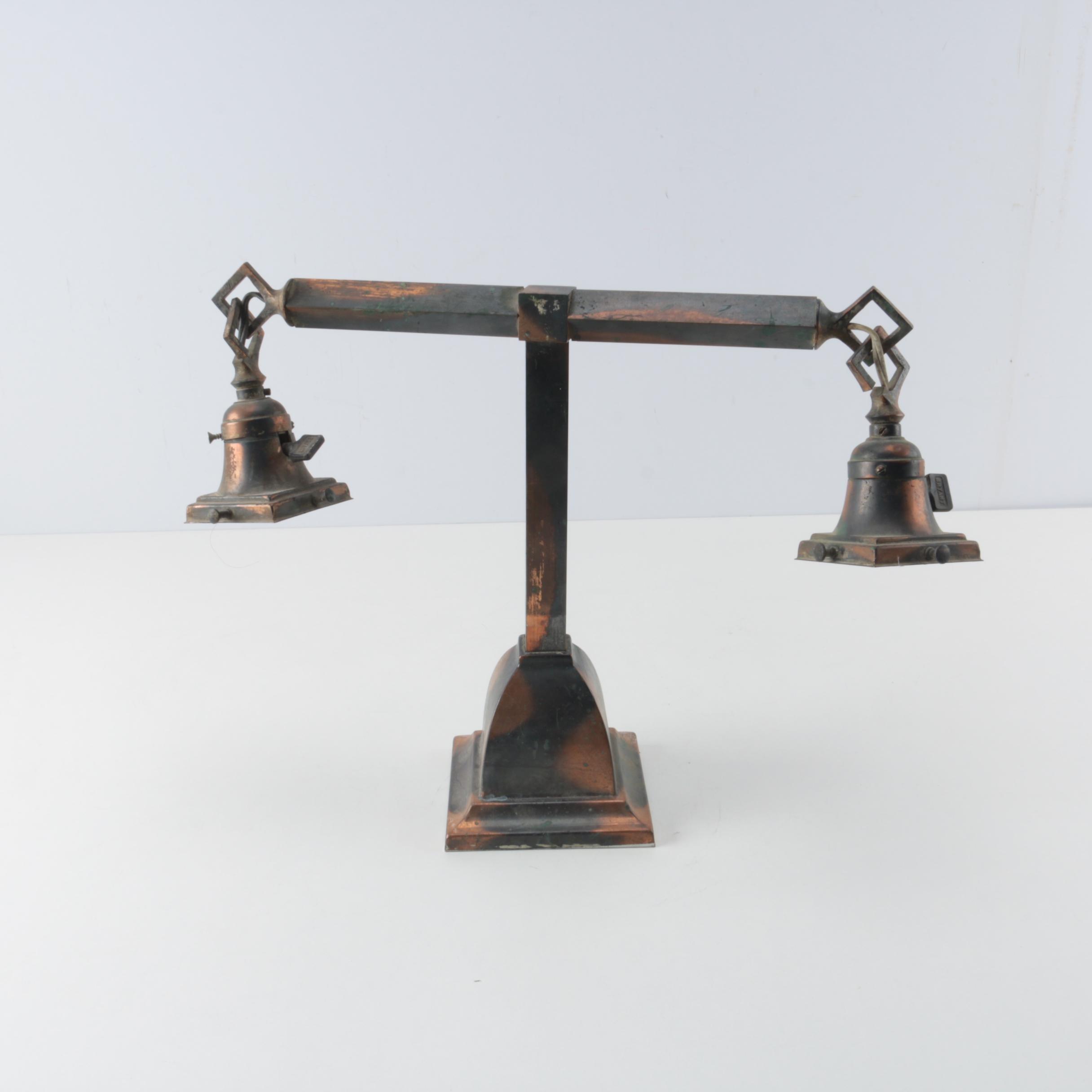 Antique Mission Bryant Copper Alloy Desk Lamp
