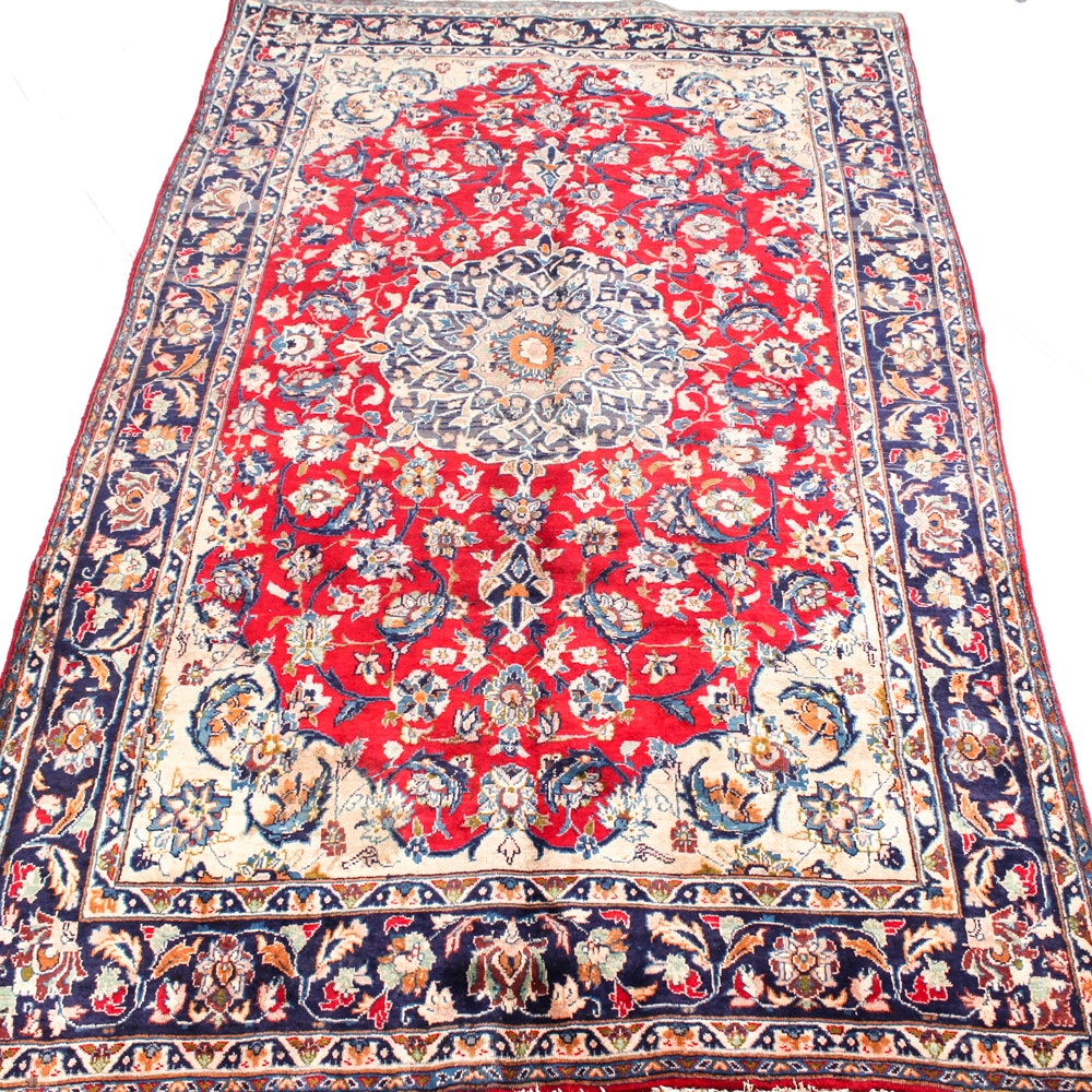 Hand-Knotted Persian Isfahan Area Rug