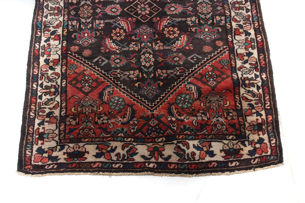 Hand-Knotted Persian Malayer Sarouk Runner