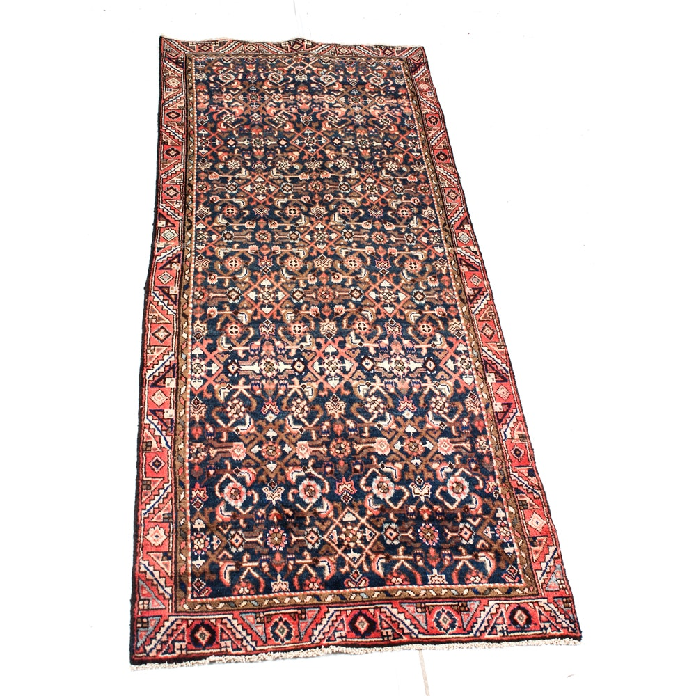 Hand-Knotter Persian Malayer Sarouk Area Rug