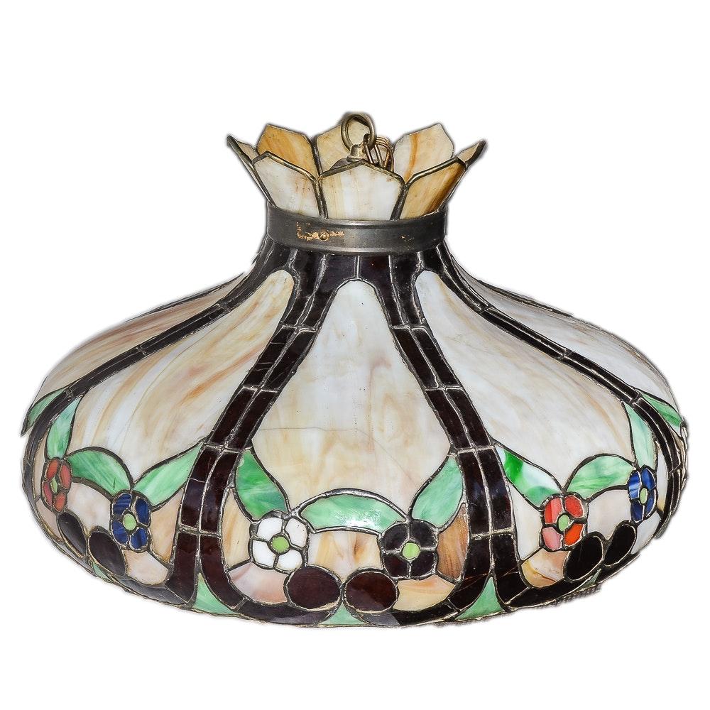 Antique Tiffany Style Pendant Light
