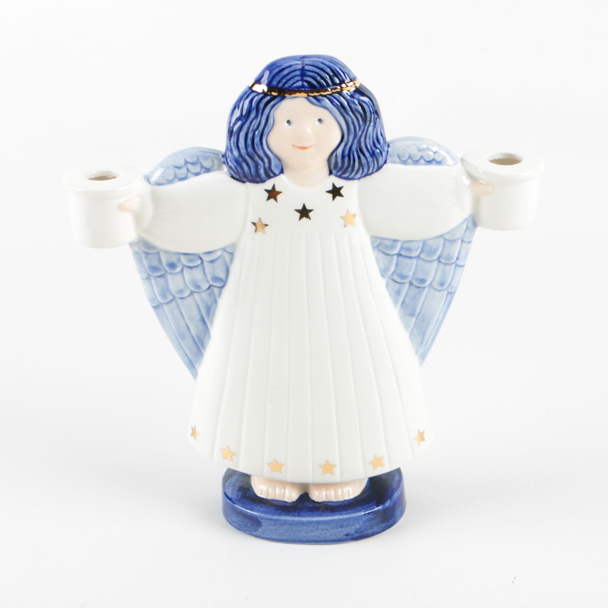 Lisa Larson Goebel Angel Figurine Candleholder