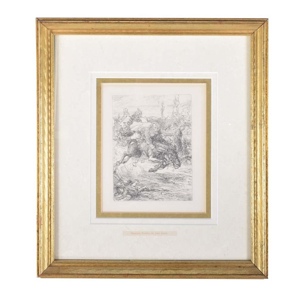 """Dupont's Ride"" Original Etching on Paper by John Sloan"