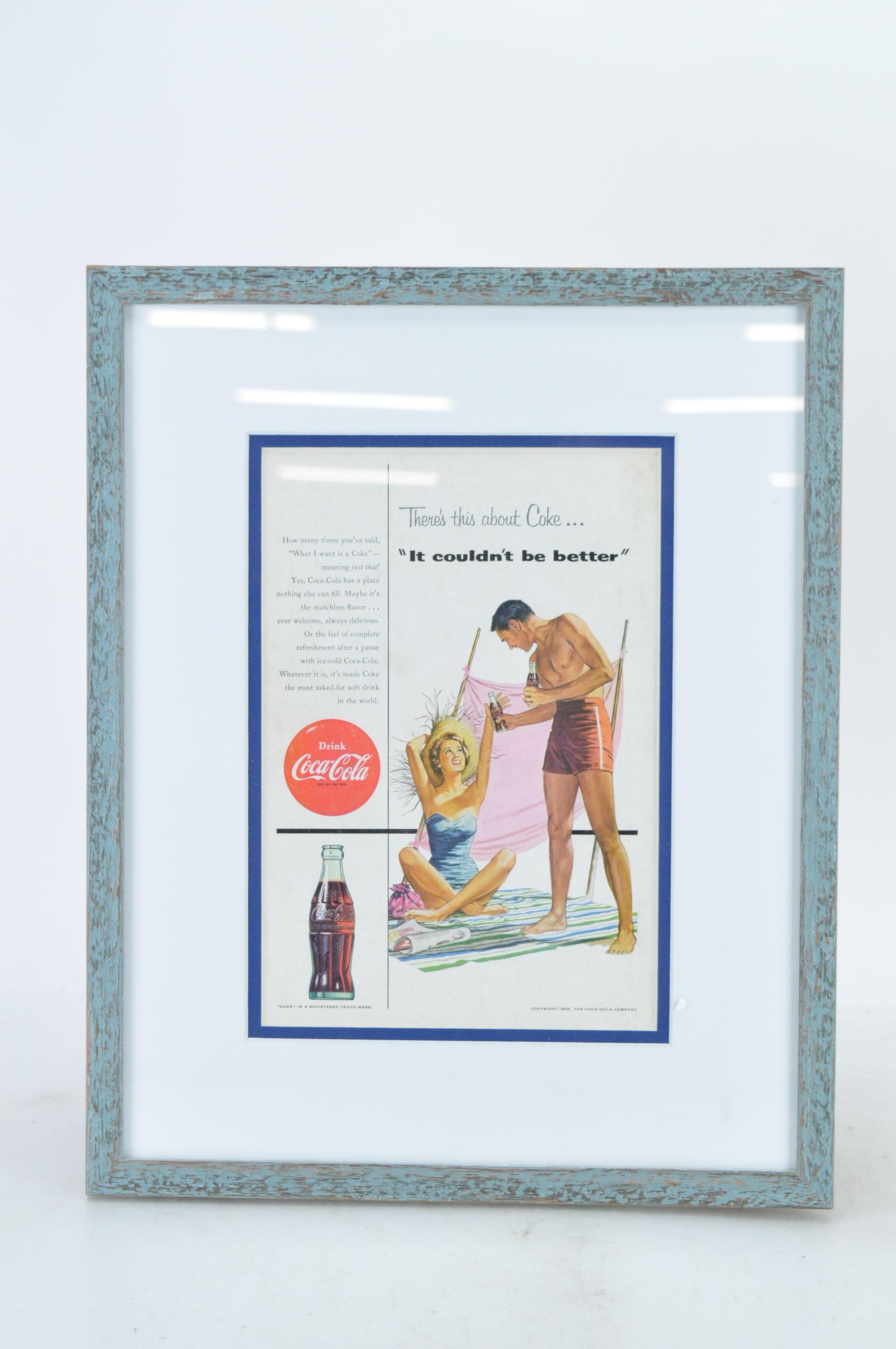 1954 Frame Coca Cola Advertisement Ebth