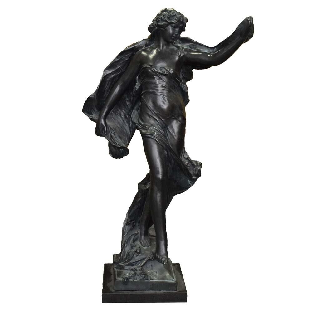 """""""La Grace"""" Eugène  Marioton Reproduction Iron Sculpture"""