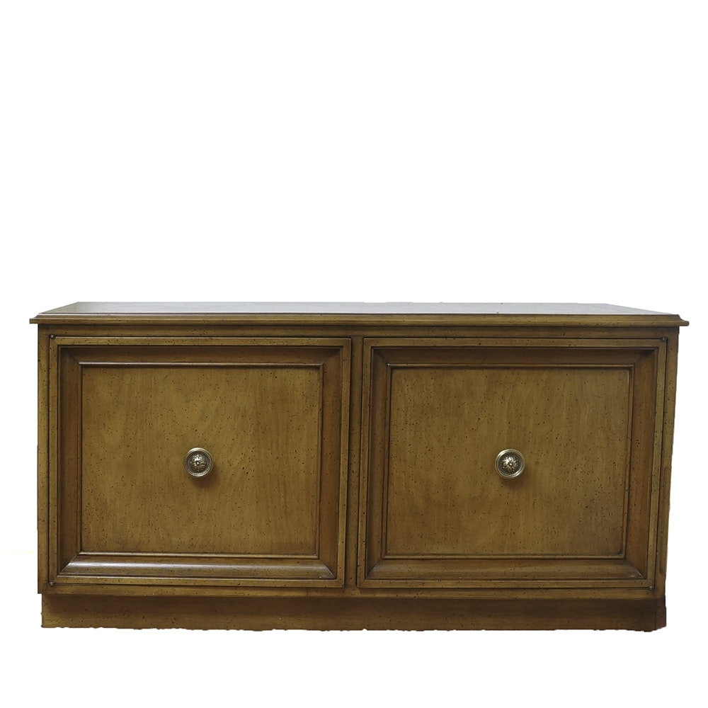 Vintage Walnut Stained Low Cabinet