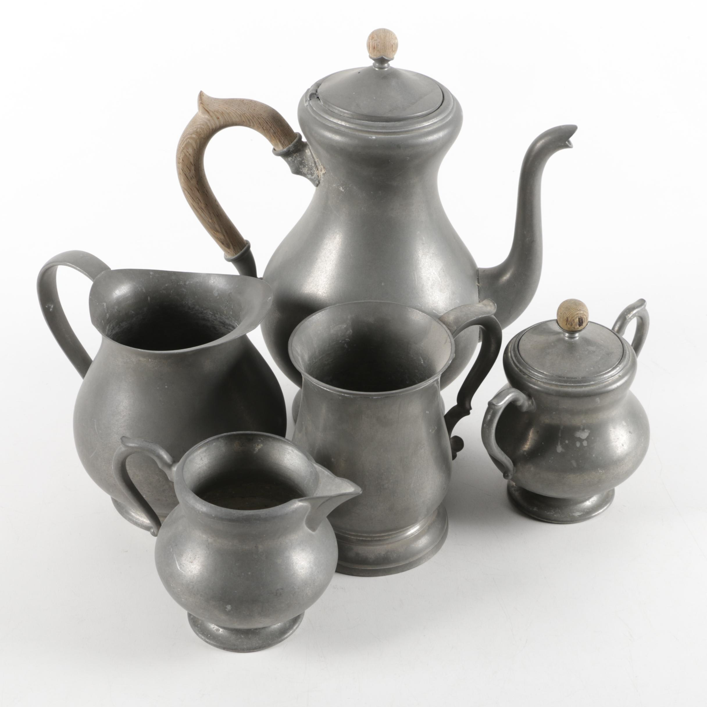 K.M.D. Tiel Royal Holland Pewter Coffee Set