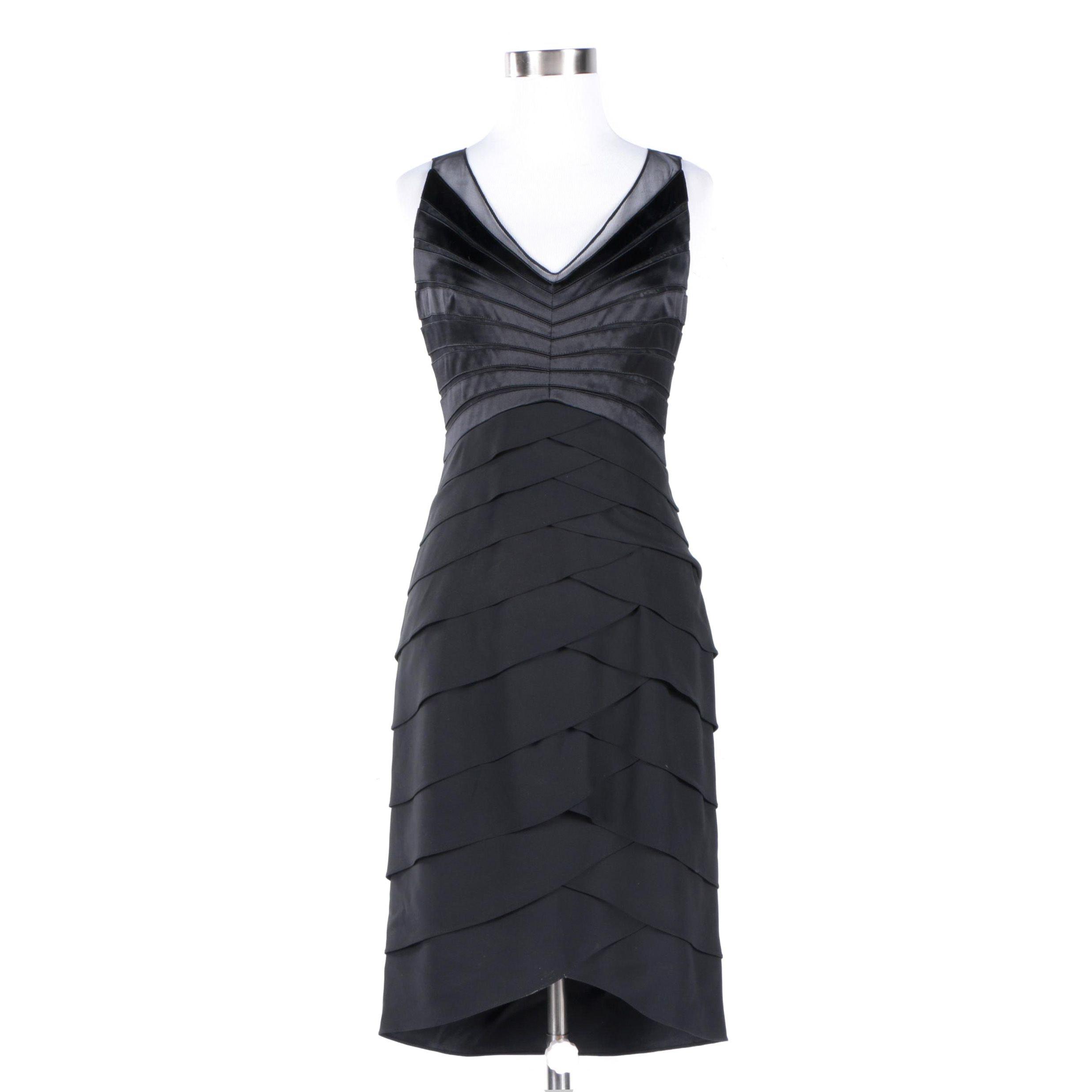 Cheta B Black Silk Dress