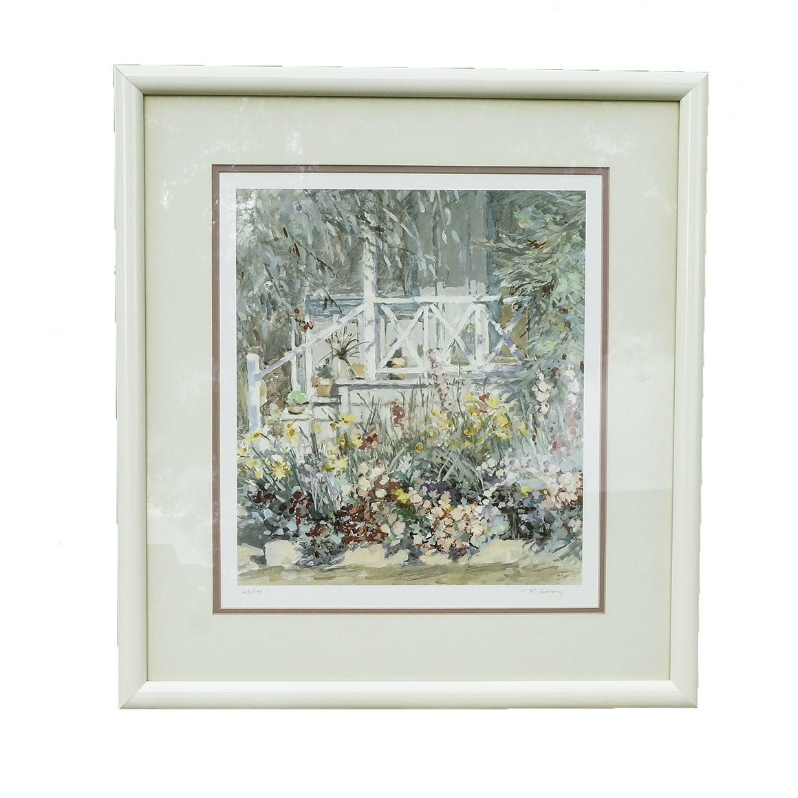 "B. Gregory Limited Edition Offset Lithograph ""Laguna Garden"""