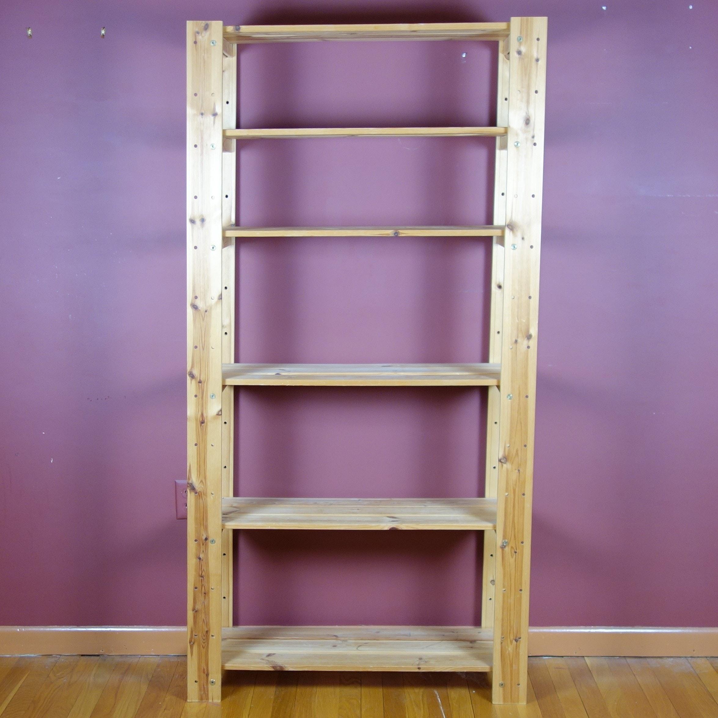 Custom Made Wood Storage Shelf