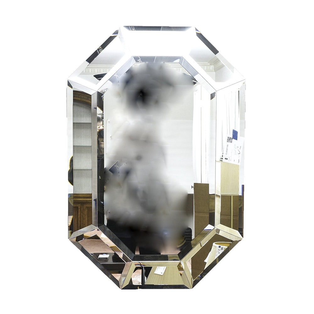 Elongated Octagonal Wall Mirror