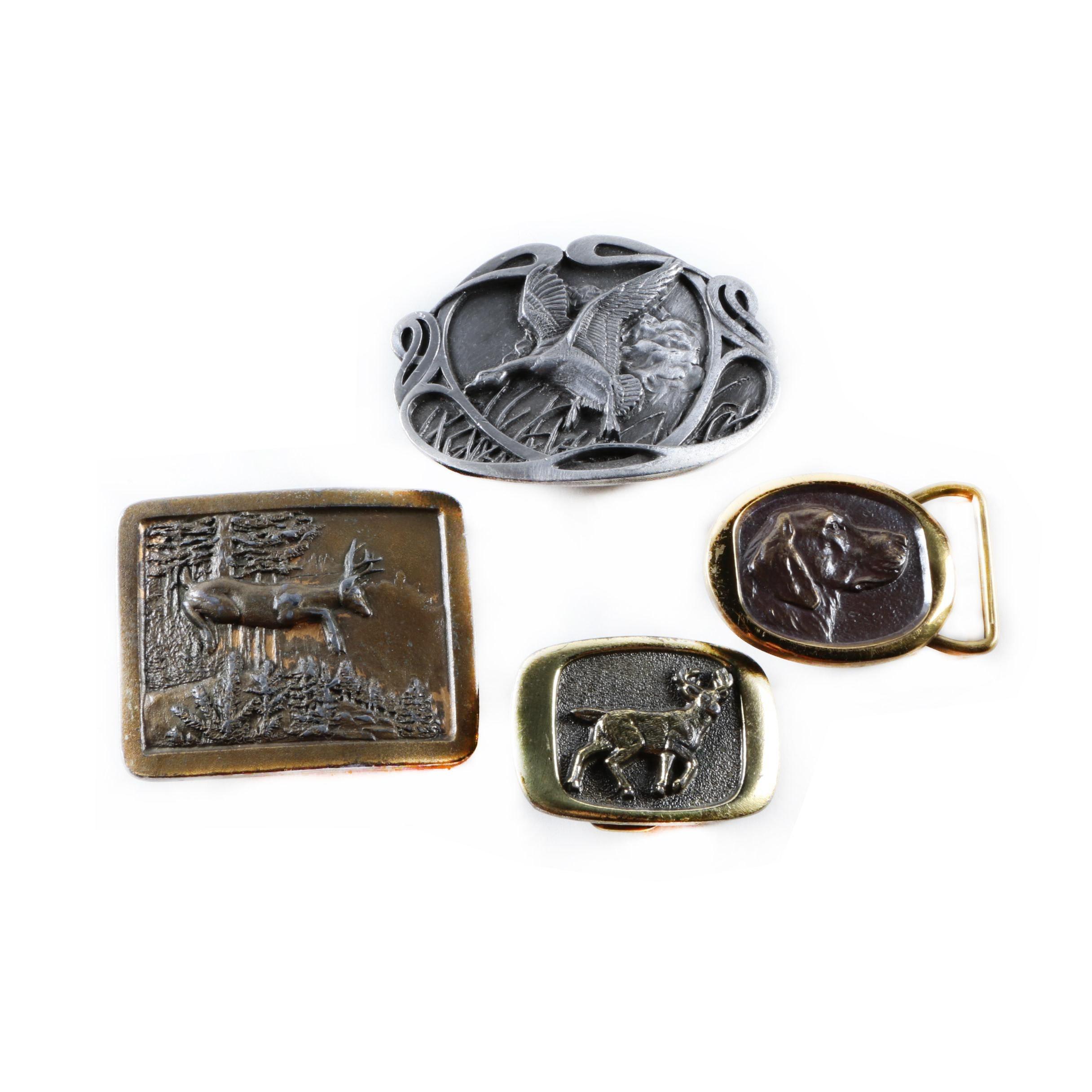 Hunting Theme Vintage Belt Buckles