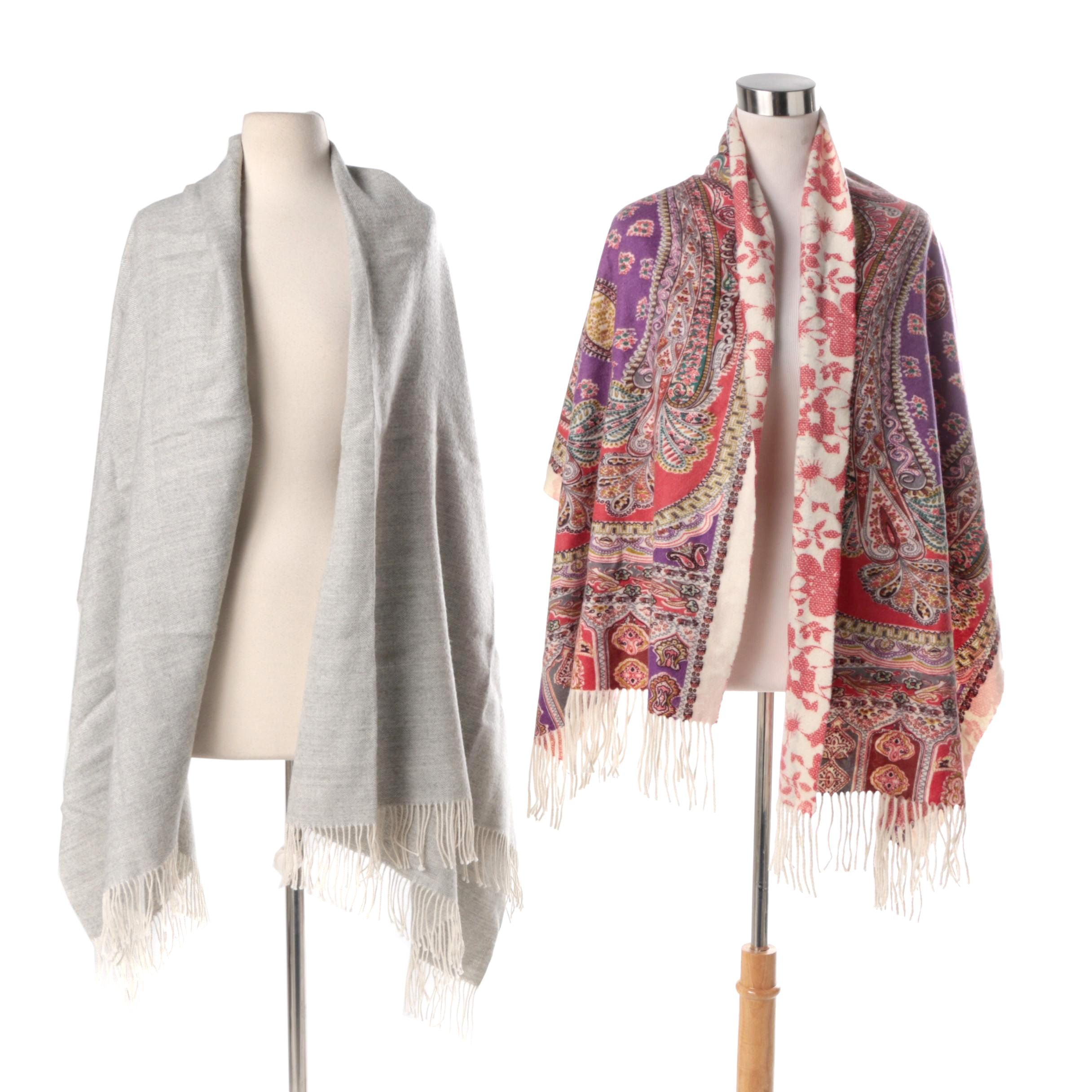 J. McLaughlin Alpaca and Cashmere Knit Scarves