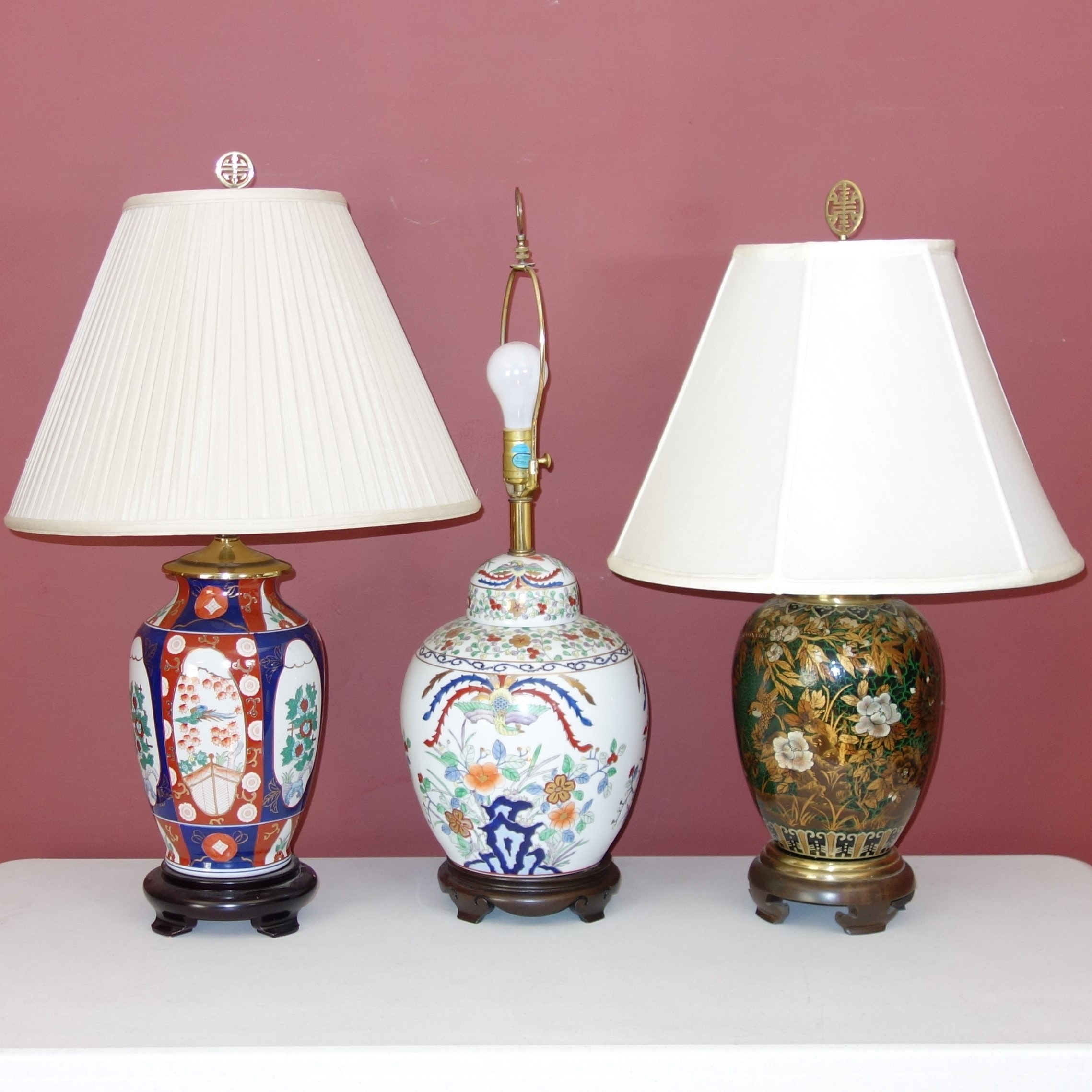 F. Cooper Asian Style Porcelain Lamp