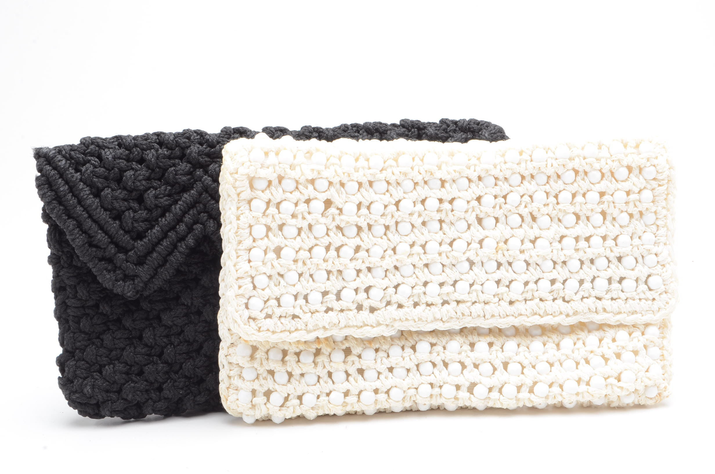 Vintage Crochet Envelope Clutches