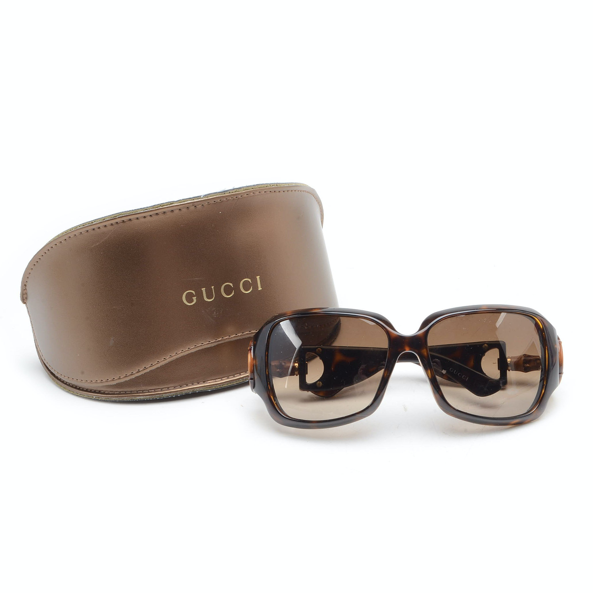Gucci Tortoiseshell Patterned Sunglasses