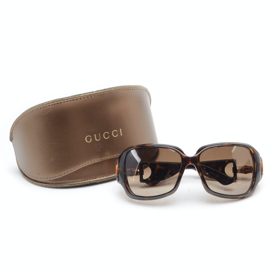 19b74c4ae00 Gucci Tortoiseshell Patterned Sunglasses   EBTH