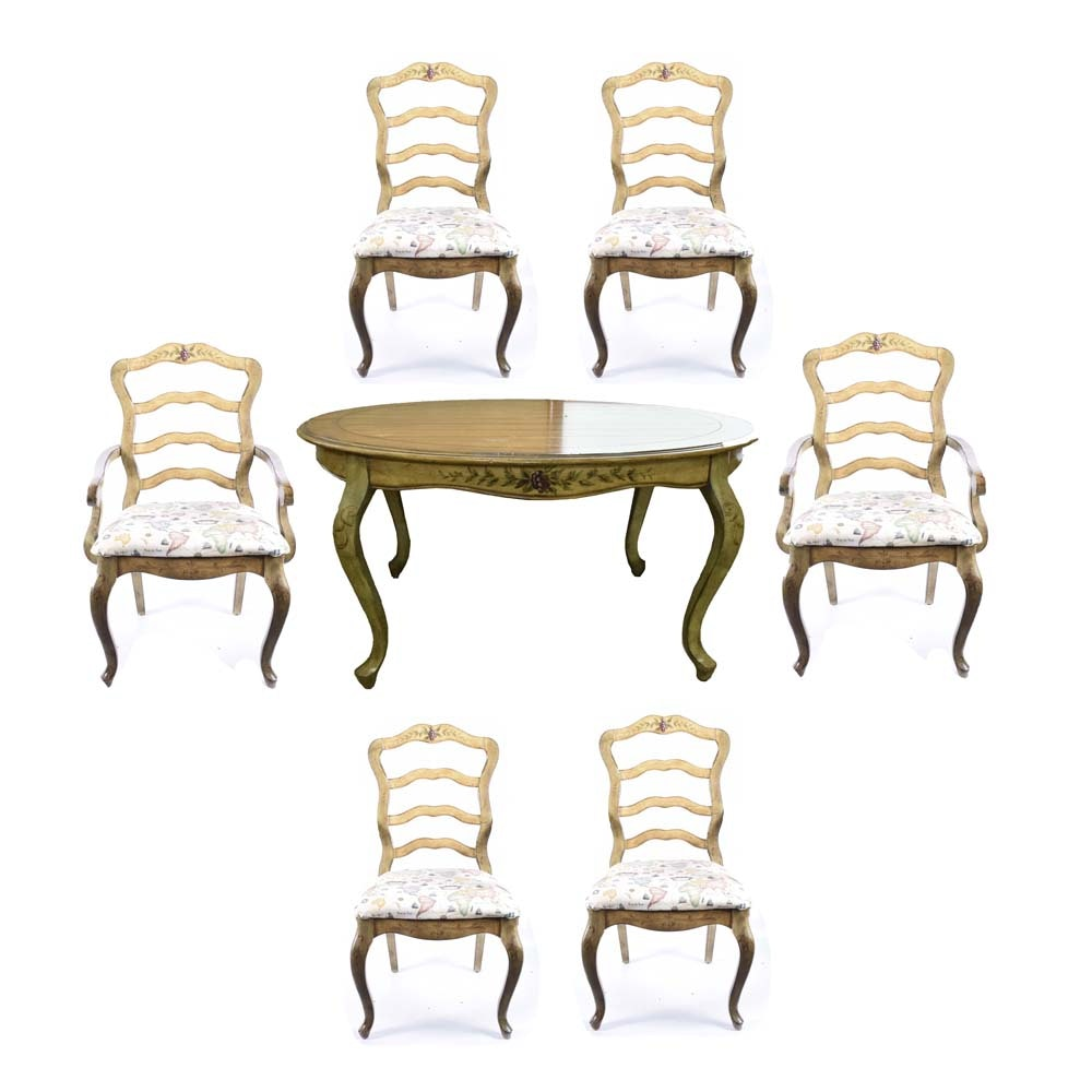 French Provincial Style Dining Table and Chairs