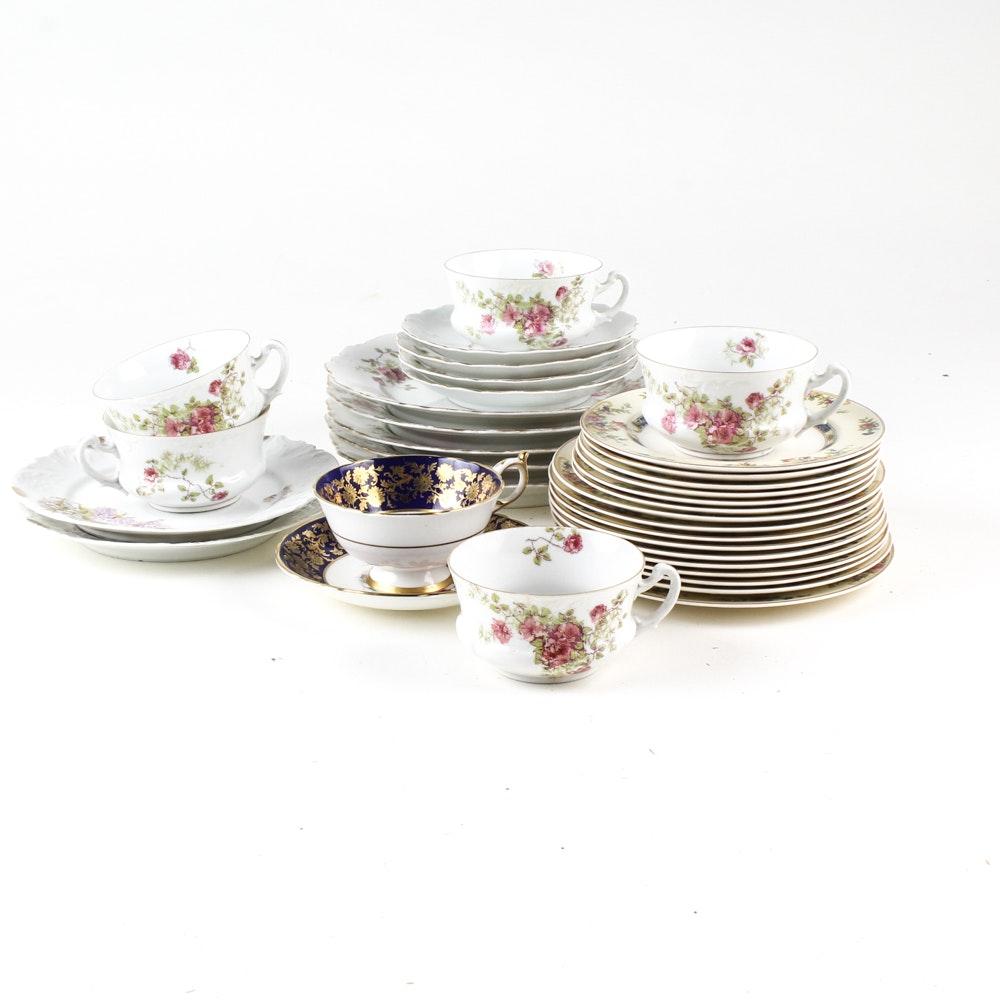 Eclectic Vintage Porcelain Tableware Assortment