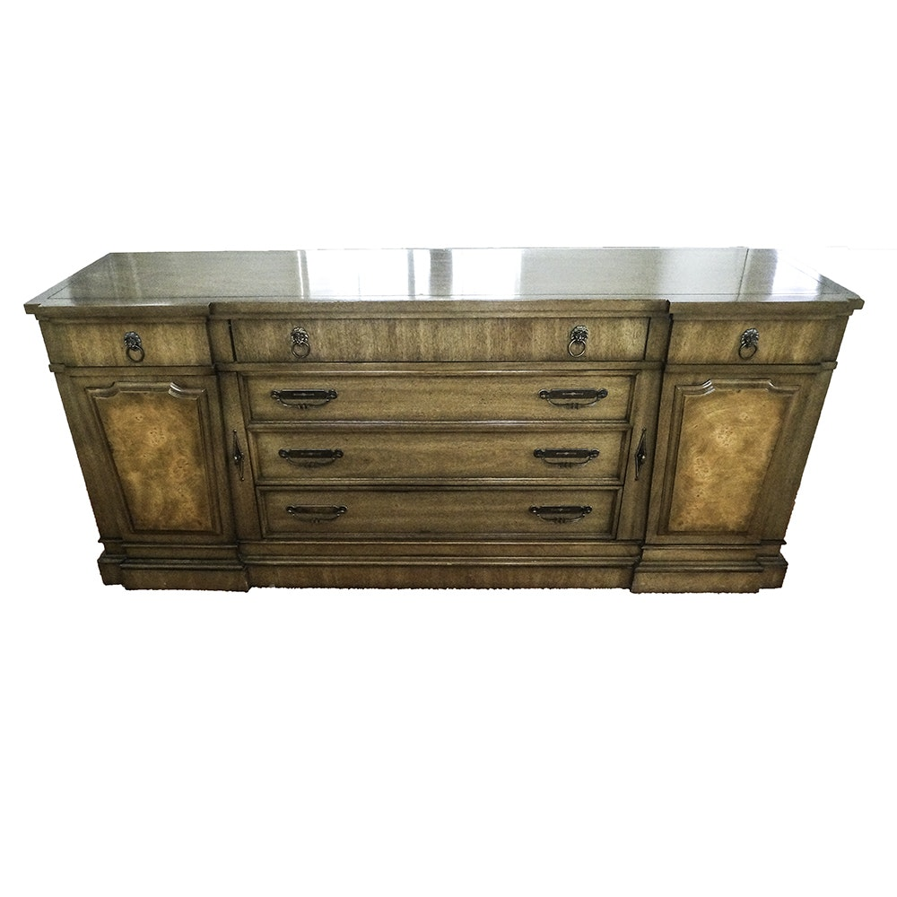 Mid-Century Traditional Style Pecan Sideboard