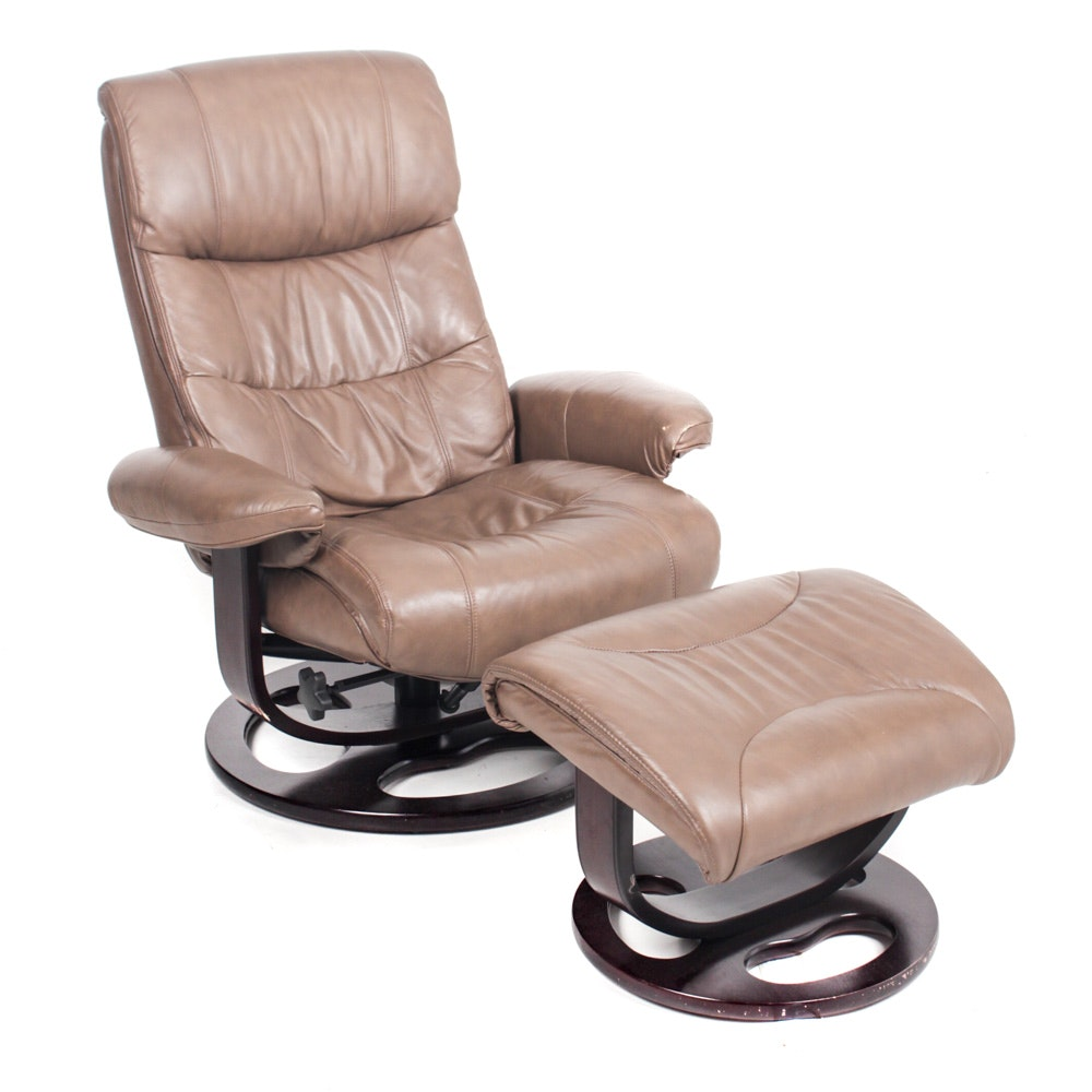 "Lane Furniture ""Rebel"" Leather Recliner and Ottoman"
