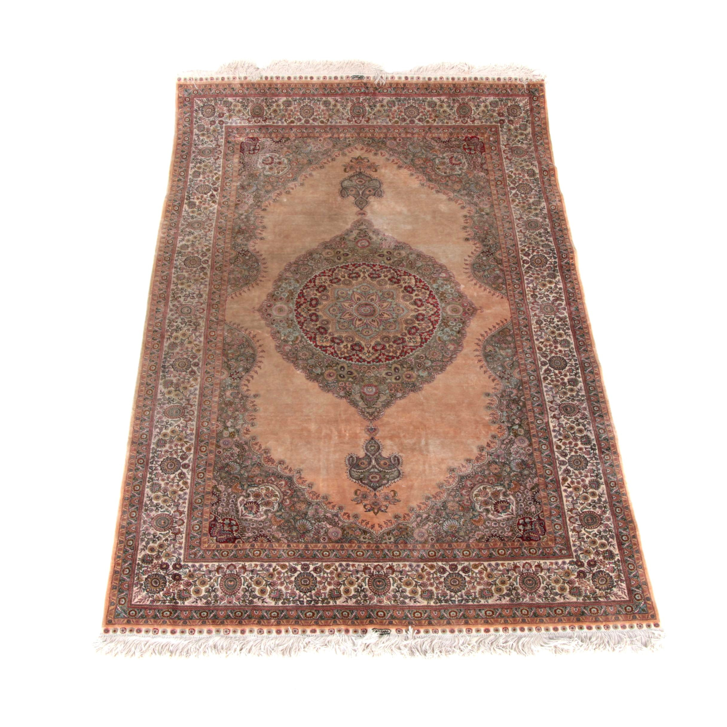 Finely Hand-Knotted Nanyang Chinese Silk Area Rug