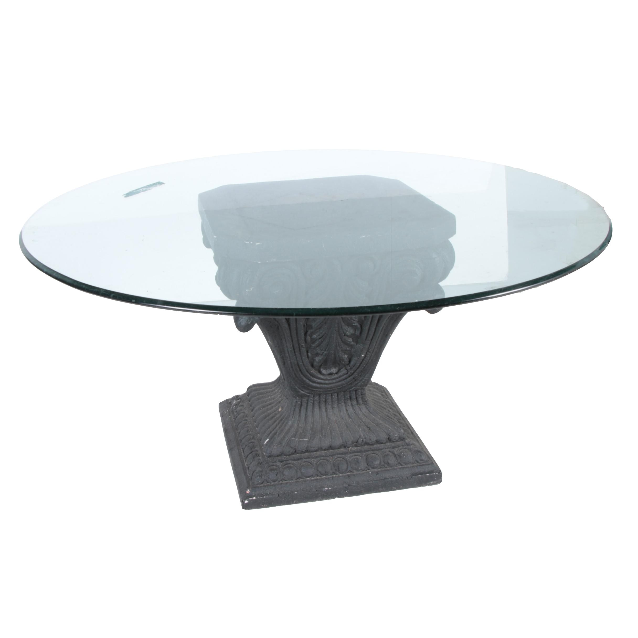 Black Outdoor Side Table