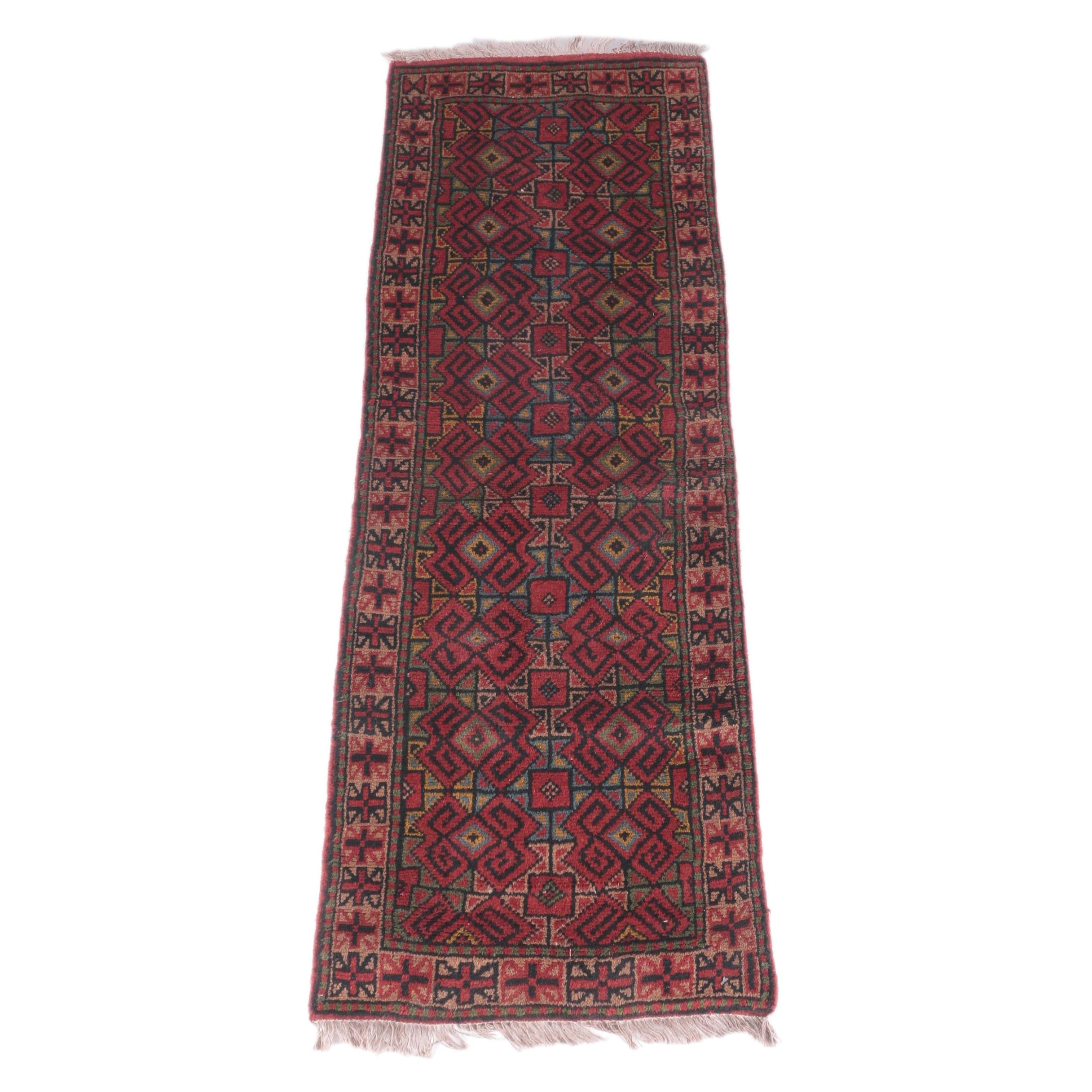 Hand-Knotted Persian Village Carpet Runner