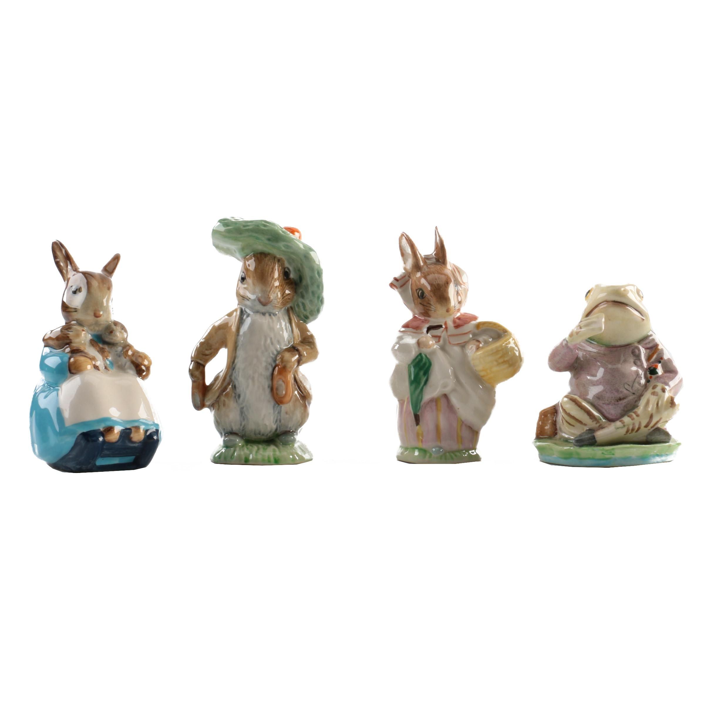 Royal Doulton and Beswick England Beatrix Potter Character Figurines