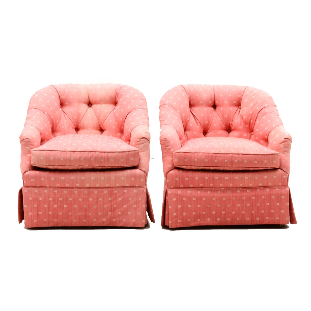 Matching Tufted Club Chairs