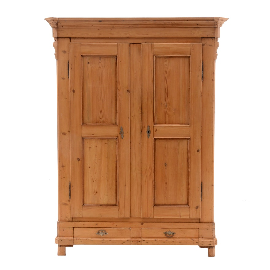 Antique Pine Cabinet ... - Antique Pine Cabinet : EBTH