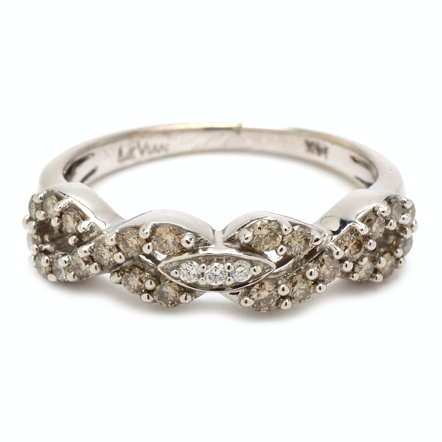 Le Vian 14K White Gold Infinity Diamond Band Ring