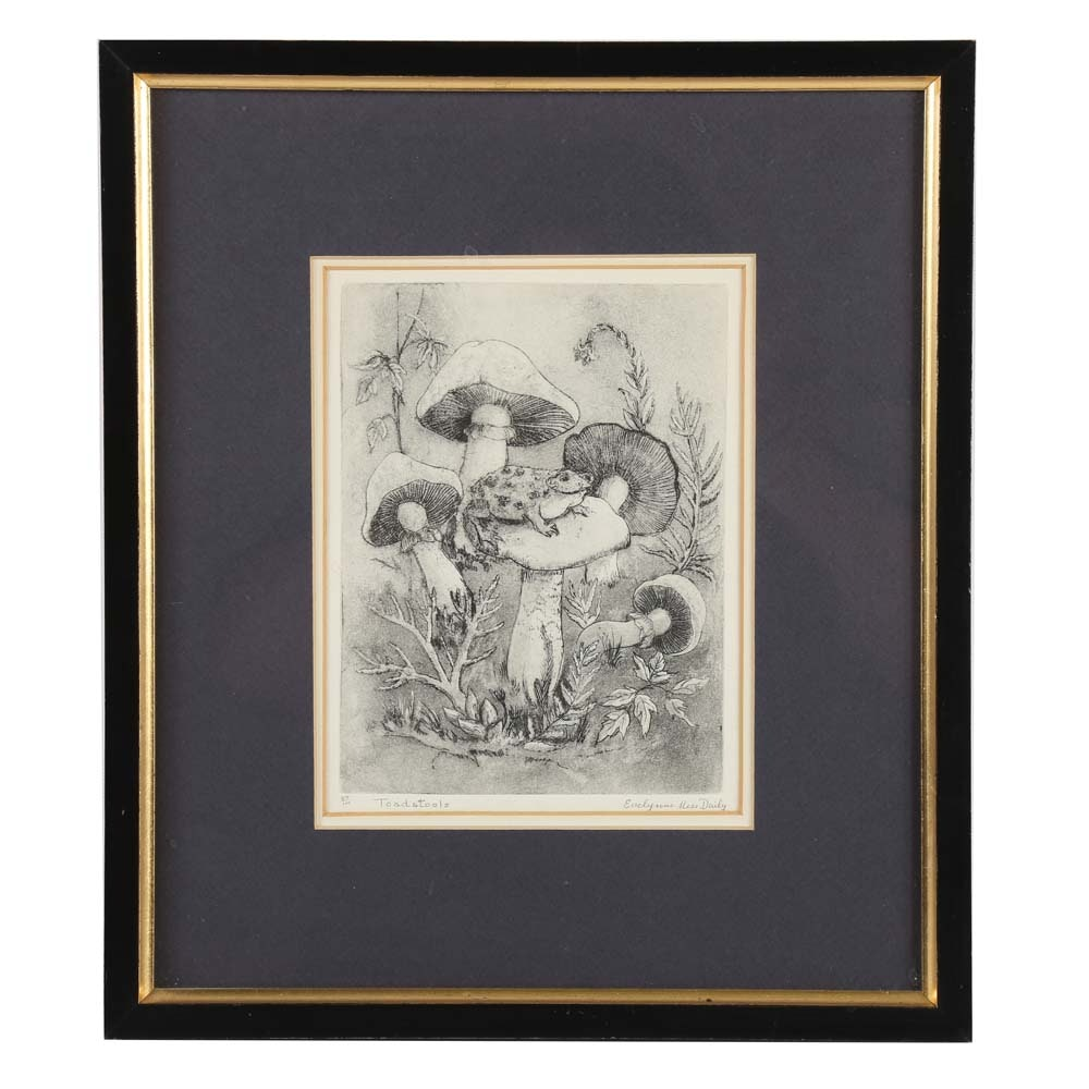 Signed Limited Edition Engraving by Evelynne Mess Daily