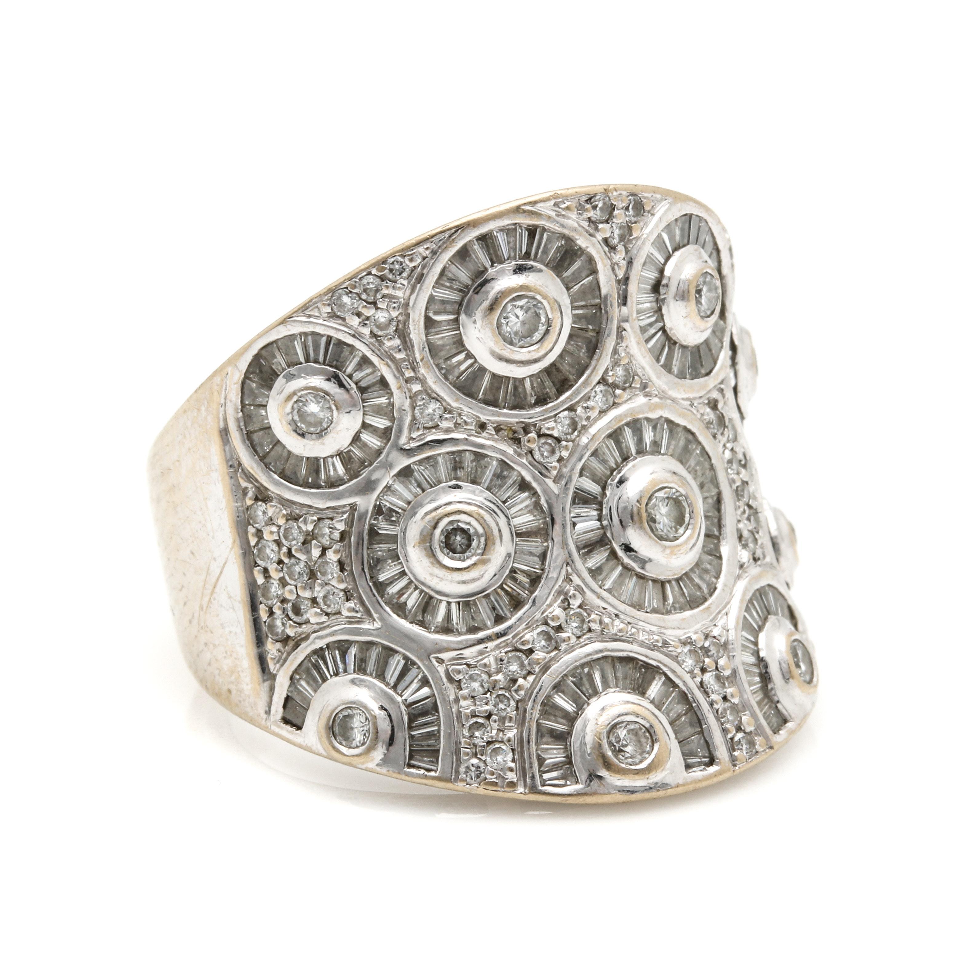 18K White Gold 2.34 CTW Diamond Ring