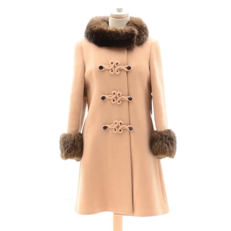 ba92e9ed3d0 Vintage Women s Wool Coat with Fur Trim   EBTH