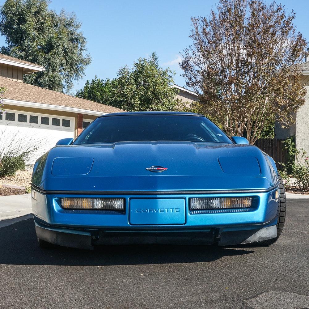1989 Blue Chevrolet Corvette