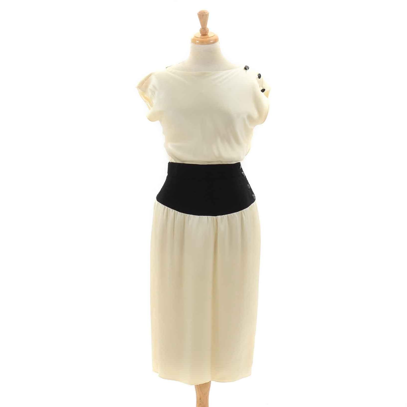 Vintage Oscar De La Renta Silk Dress