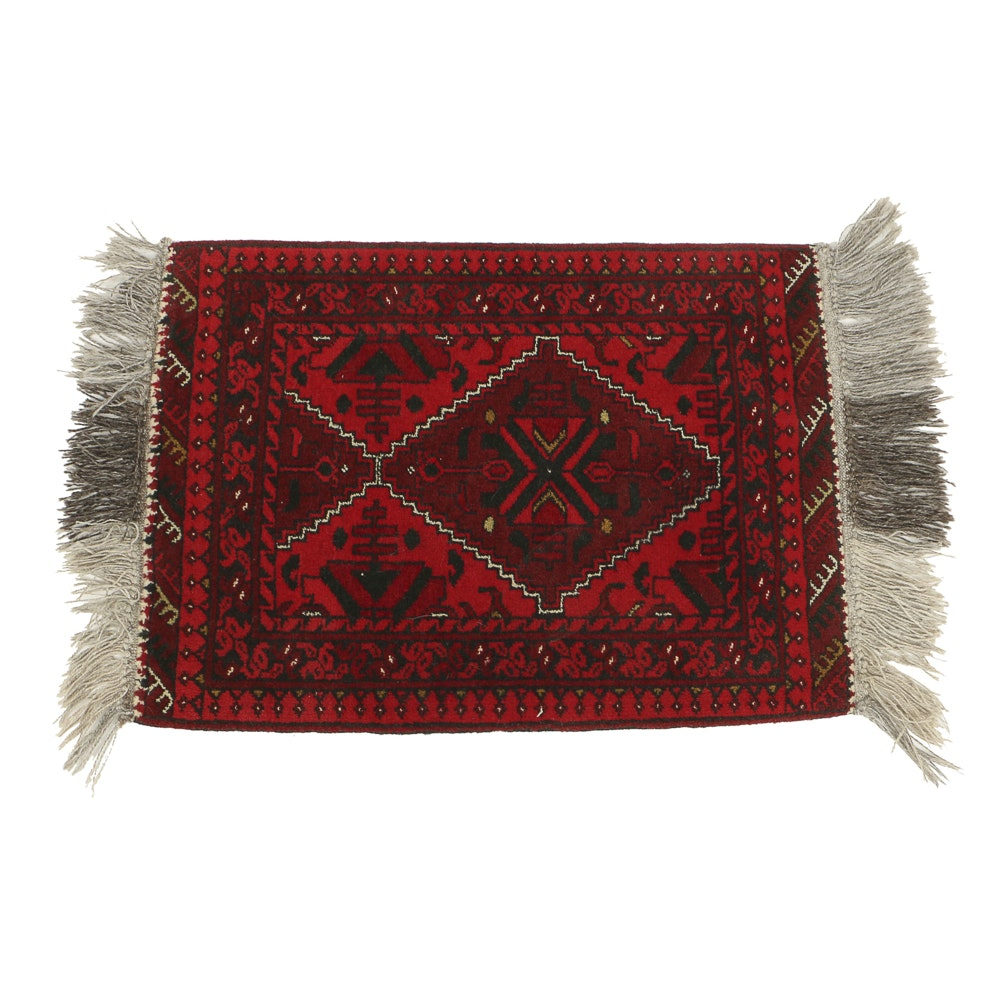 Hand Knotted All Wool Afghanistan Accent Rug