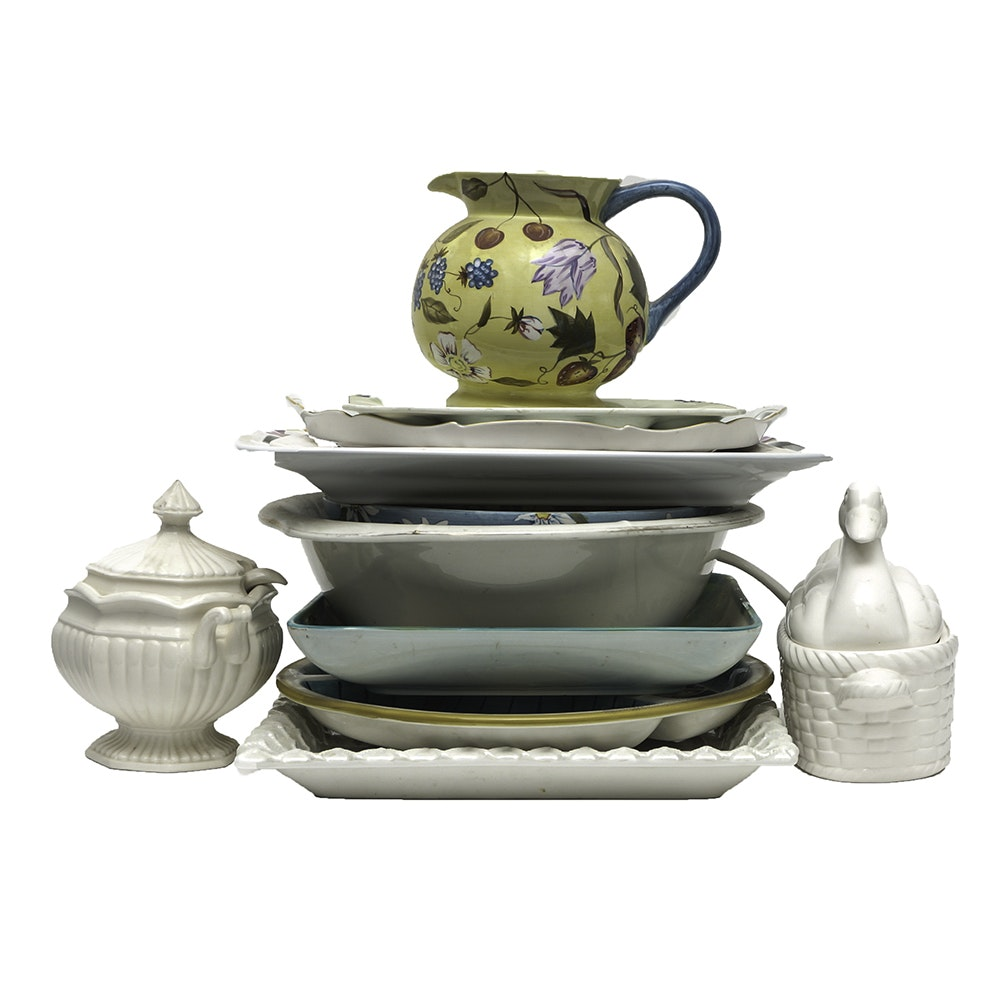 Assorted Ceramic Tableware Including Judaica