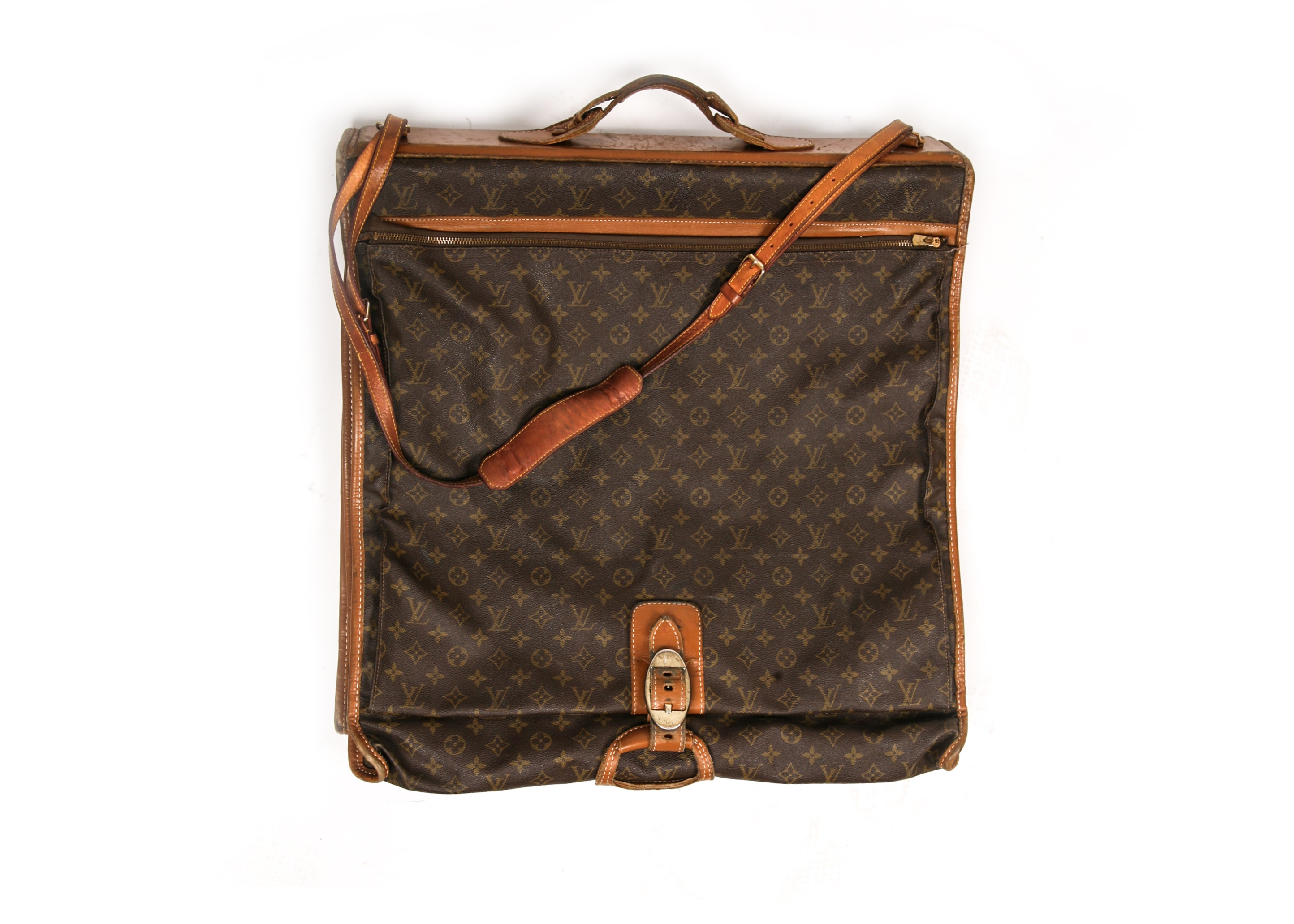 Circa 1970s Vintage Louis Vuitton French Company Garment Bag