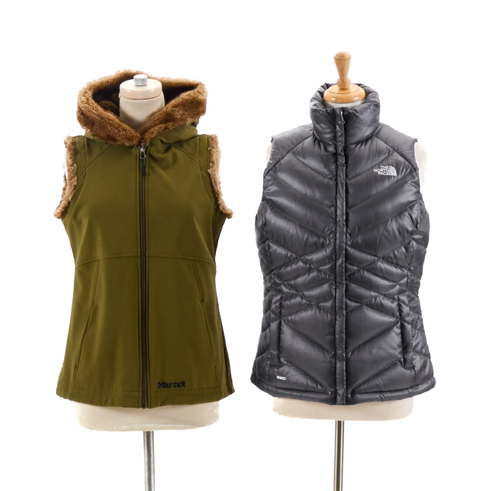 The North Face and Marmot Vests