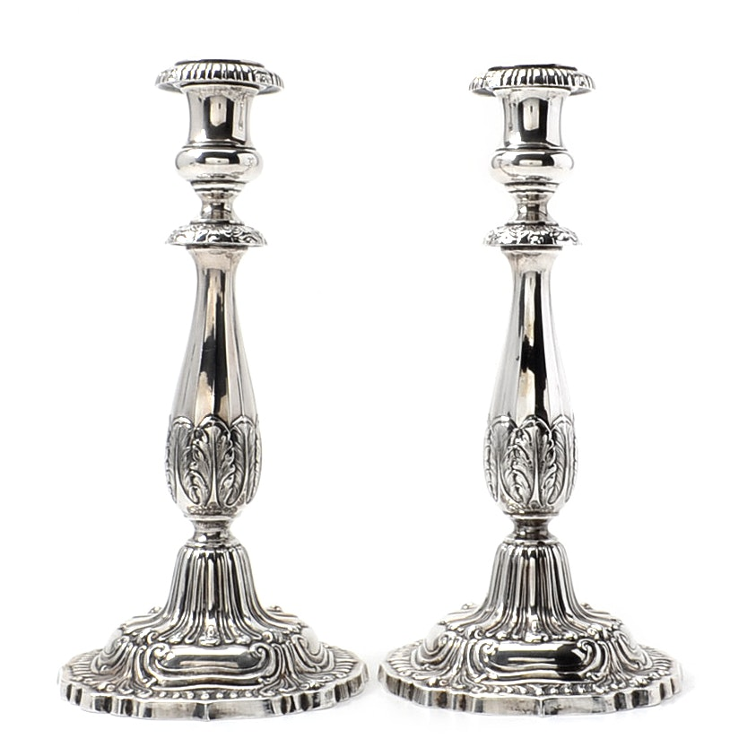 M. Fred Hirsch Co., Weighted Sterling Silver Candlesticks